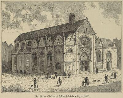 Église Saint Benoît le Bétourné puis théatre du Panthéon ( Emplacement - Disparue )