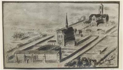 Léprozerie, hôpital puis prison Saint-Lazare ( Emplacement - fronton )